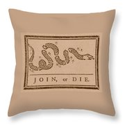 Join Or Die Throw Pillow