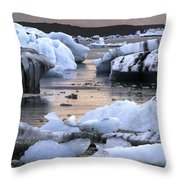 Jokulsarlon Glacier Lagoon Iceland 2050 Throw Pillow