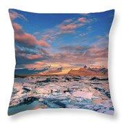 Jokulsarlon Glacier Lake - Iceland Throw Pillow