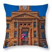 Jones County Courthouse Throw Pillow