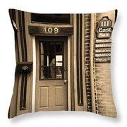 Jonesborough Tennessee - Main Street Throw Pillow
