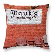 Jonesborough Tennessee Mauk's Store Throw Pillow