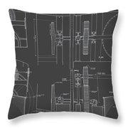 Jonval Turbines - Fairmount Waterworks - Philadelphia, Pa - Circa 1812 Throw Pillow