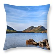 Jordan Pond No. 2 - Acadia - Maine Throw Pillow