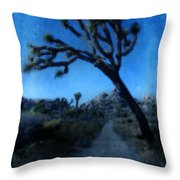Joshua Trees At Night Throw Pillow