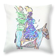 Journey To Bethlehem - Joseph And Mary Throw Pillow