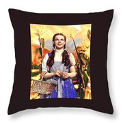 Judy Garland As Dorothy In The Wizard Of Oz Eric Carpenter Photo 1938-2014 Throw Pillow