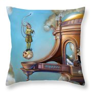 Jugglernautica Throw Pillow by Patrick Anthony Pierson