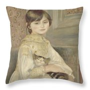 Julie Manet Throw Pillow