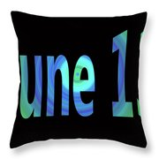 June 13 Throw Pillow