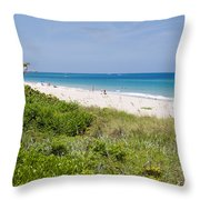 Juno Beach In Florida Throw Pillow