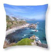 Jurassic Coast - England Throw Pillow