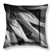 Just Shy In Black And White Throw Pillow