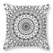 Kaleidoscope 706 Throw Pillow