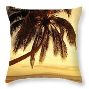 Kamaole Beach Throw Pillow