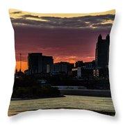 Kansas City Sunrise From Kaw Point Throw Pillow