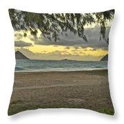 Kaohikapu Island Sunrise Throw Pillow