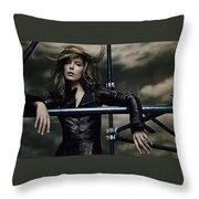 Kate Beckinsale Throw Pillow