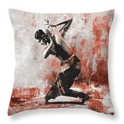 Kathak Dancer  Throw Pillow