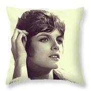 Katharine Ross, Vintage Actress Throw Pillow