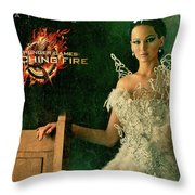Katniss Hunger Games Catching Fire Throw Pillow