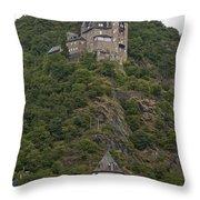 Katz Castle, Loreleystadt Throw Pillow