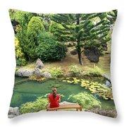 Kauai, Kilauea Throw Pillow
