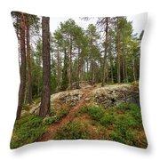 Kaukaloistenkallio Hillside View Throw Pillow