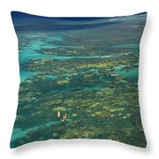 Kayaking Through Beautiful Coral Throw Pillow