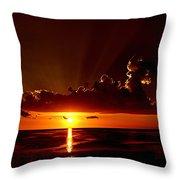 Keaton Beach Sunset Throw Pillow