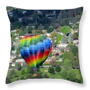 Kelowna Ballooning 1 Throw Pillow