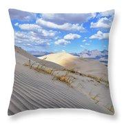 Kelso Dunes Desert Landscape Throw Pillow