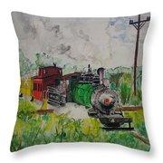 Kettle Moraine Train Throw Pillow