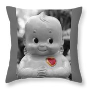 Rosie O'neil's Kewpie Of Love Throw Pillow