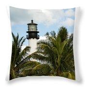Key Biscayne Lighthouse, Florida Throw Pillow