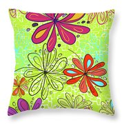 Key Lime Delight Throw Pillow
