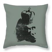 King Ape Throw Pillow