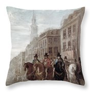 King Charles II Of England Throw Pillow