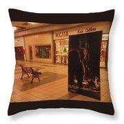 King Kong Remake Poster Mall Casa Grande Arizona Christmas 2005 Throw Pillow
