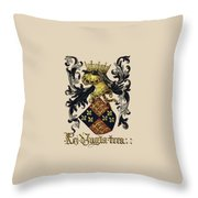 King Of England Coat Of Arms - Livro Do Armeiro-mor Throw Pillow