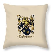 King Of France Coat Of Arms - Livro Do Armeiro-mor  Throw Pillow