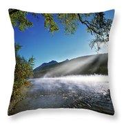 Kintla Lake Throw Pillow