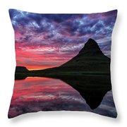 Kirkjufell Throw Pillow