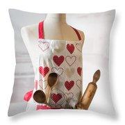 Kitchen Apron Throw Pillow