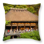 Kiyomizudera Temple Throw Pillow