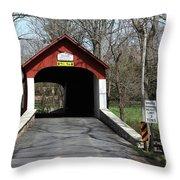 Knecht's Covered Bridge Throw Pillow