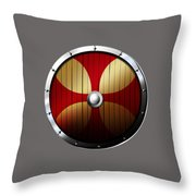 Knights Templar Shield Throw Pillow