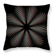 Knotplot 9 - Use Red-cyan 3d Glasses Throw Pillow