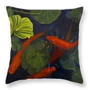 Koi Ballet Throw Pillow