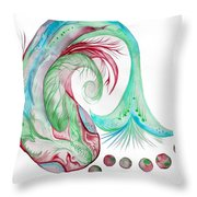 Koi Fish-watercolor Throw Pillow